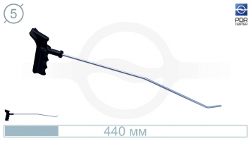 Фото Крючок со стандартным загибом, левый, плоский (длина 45 см, угол загиба 45º, длина загиба 30 мм, Ø 5 мм)