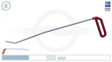 Фото Крючок для сложного доступа, правый угловой, плоский (угол загиба 45º, Ø 6 мм)