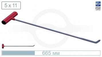 Фото Крючок со стандартным загибом (длина 66,5 см,  угол загиба 45º, Ø 11 мм)