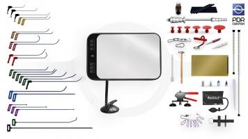 Фото Большой набор с мобильной LED лампой (24 крючка, 4 насадки, 14 аксессуаров, клеевая система, мобильная лампа)