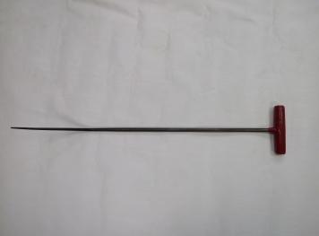Фото Крючок Ø 10 мм, длина 640 мм,угол первого загиба 45º,угол второго загиба 45º.