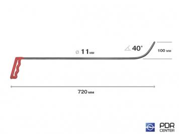 Фото Крючок № 13 (Ø 11 мм, длина 740 мм, синий)