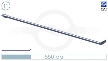 Фото Крючок со стандартным загибом для винтовых насадок (длина 55 см, длина загиба 30 мм, угол загиба 45º, Ø 11 мм, без ручки)