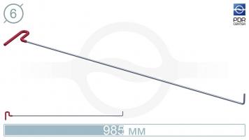 Фото Крючок с загибом 90º, плоский (длина 98,5 см, угол загиба 90º, длина загиба 45 мм, Ø 6 мм)