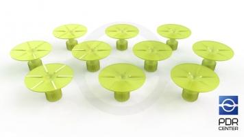 Фото Клеевые грибки Wurth, салатовые, круглые (комплект из 10-ти шт)