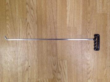 Фото Крючок с наконечником-лезвием (длина 60 см, ширина 6 мм, толщина 3 мм, длина загиба 2,5 см, угол загиба 45º)