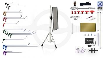 Фото Средний набор со средней LED лампой Ultra Dent (18 крючков, 4 насадки, 12 аксессуаров, клеевая система, средняя лампа)