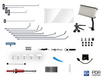 Фото 01UE - Ultra S с мобильной лампой (11 крючков, мобильная LED лампа, 7 аксессуаров, насадки, клеевая система с обратным молотком)