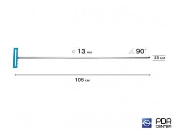 Фото Крючок со стандартным загибом под насадки A35 и A36 (длина 105 см,  угол загиба 90º, длина загиба 35 мм, Ø 13 мм)