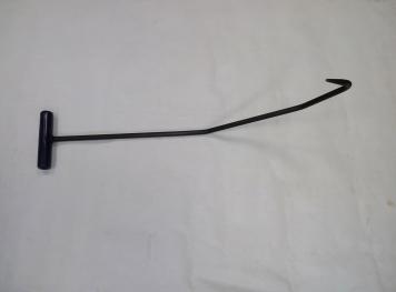 Фото Крючок Ø 10 мм, длина 580 мм,угол первого загиба 45º,угол второго загиба 15º,угол третьего загиба 100º.