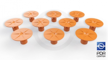 Фото Клеевые грибки круглые, оранжевые (Ø 35 mm) (комплект из 10-ти штук)