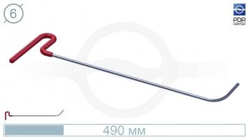 Фото Крючок с загибом 75º, закруглённый, плоский (длина 49 см, угол загиба 75º, длина загиба 65 мм, Ø 6 мм)