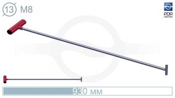 Фото Крючок прямой под винтовые насадки (возможно использовать сразу 2 насадки)(длина 93 см,  Ø 13 мм)