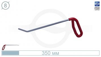 Фото Крючок правый угловой, плоский (длина 35 см, угол загиба 45º, длина загиба 45 мм, Ø 8 мм)