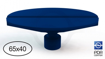 Фото Клеевой грибок NUSSLE GROSS, овальный синий 65х40