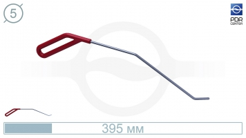 Фото Крючок левый угловой, плоский (длина 30 см, угол загиба 45º, длина загиба 30 мм, Ø 5 мм)