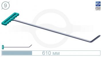 Фото Крючок со стандартным загибом для насадок A35/36 (длина 61 см,угол загиба 45º, Ø 9 мм)