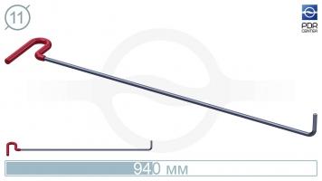Фото Крючок с загибом 90º, кончик круглый (длина 94 см, угол загиба 90º, длина загиба 70 мм, Ø 11 мм)