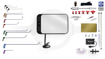 Фото Малый набор с мобильной LED лампой (12 крючков, 4 насадки, 11 аксессуаров, клеевая система, мобильная лампа)