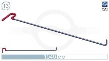 Фото Крючок с загибом 90º, кончик очень острый (длина 104 см, угол загиба 90º, длина загиба 70 мм, Ø 13 мм)