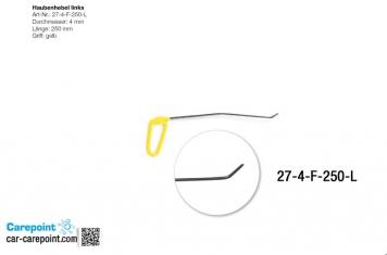 Фото Капотная штанга длина 30 см,1 загиб 12 см угол 10º, длина 2 загиба 3 см, угол загиба 35º(левая)