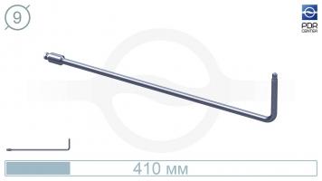 Фото Крючок со стандартным загибом для насадок A35/36, без рукоятки (длина 41 см,угол загиба 90º, Ø 9 мм)