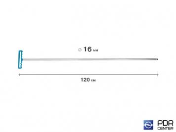 Фото Крючок градовый для винтовых насадок (длина 120 см, Ø 16 мм)
