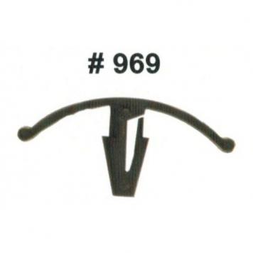 Фото Комплект клипс для автомобилей Ford, черные, 25 штук (Ø отверстия 6 мм, Ø шляпки 37.5 мм)