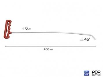 Фото Правый градовый (лезвиный) (длина 45 см, угол загиба 45º, Ø 6 мм)