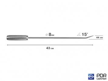 Фото Крючок прямой, острый (длина 43 см,  угол загиба 15º, длина загиба 44 мм, Ø 8 мм)