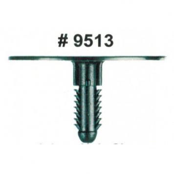 Фото Комплект клипс для автомобилей Ford, черные, 25 штук (Ø отверстия 6.4 мм, Ø шляпки 44.5 мм)