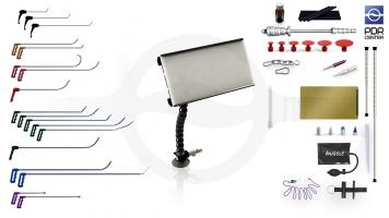 Фото Средний набор с мобильной LED лампой Ultra Dent (18 крючков, 4 насадки, 12 аксессуаров, клеевая система, мобильная лампа)