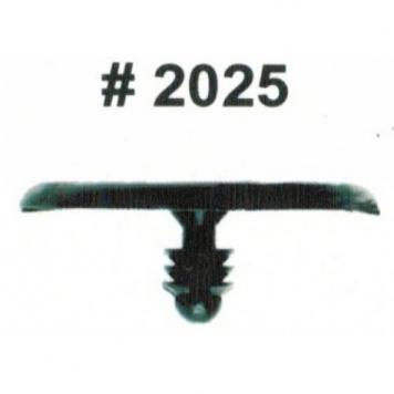 Фото Комплект клипс для автомобилей Nissan, черные, 15 штук (Ø отверстия 5.5 мм, Ø шляпки 29.4 мм)