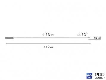 Фото Крючок прямой, острый (длина 110 см,  угол загиба 15º, длина загиба 63 мм, Ø 13 мм)