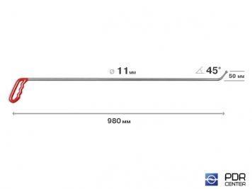 Фото Крючок с шариковым наконечником (Ø 11 мм, длина 980 мм)