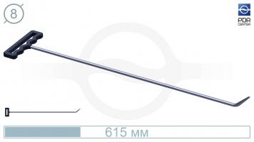 Фото Крючок со стандартным загибом, закруглённый (длина 615 мм, угол загиба 45º, длина загиба 45 мм, Ø 8 мм)