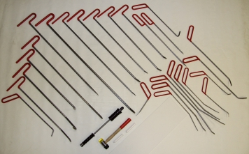 Фото Набор инструментов для удаления вмятин Pro Tools (26 крючков, обратный молоток, 3 аксессуара)