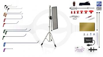 Фото Малый набор со средней LED лампой Ultra Dent (12 крючков, 4 насадки, 11 аксессуаров, клеевая система, средняя лампа)