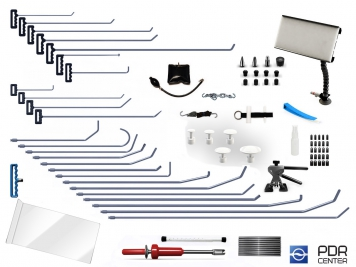 Фото 07UE - Ultra L с мобильной лампой (25 крючков, мобильная LED лампа, 7 аксессуаров, насадки, клеевая система с обратным молотком)