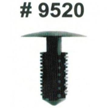 """Фото Комплект клипс для автомобилей GM, черные, 25 штук (Ø отверстия 8 мм, Ø шляпки 5/8"""")"""