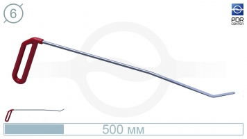 Фото Крючок для сложного доступа, левый угловой, плоский (угол загиба 45º, Ø 6 мм)