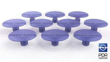 Фото Клеевые грибки Wurth, фиолетовые, овальные (комплект из 10-ти штук)
