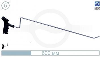 Фото Крючок для сложного доступа, левый, плоский (длина 60 см, угол загиба 45º, длина загиба 30 мм, Ø 5 мм)