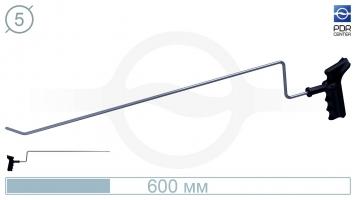 Фото Крючок для сложного доступа, правый, плоский (длина 60 см, угол загиба 45º, длина загиба 30 мм, Ø 5 мм)