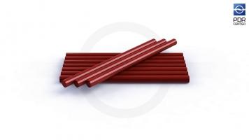 Фото Клеевые стержни, 10 штук, красные, экстра сильные, для жаркой погоды