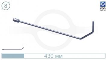 Фото Крюк с большим изгибом (длина 43 см, угол загиба 90º, без ручки, Ø 8 мм)