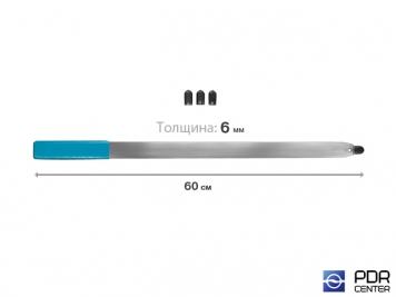 Фото Рессора плоская с накончником под винтовые насадки и насадку A36H (длина 60 см, толщина 6 мм)