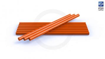 Фото Клеевые стержни, 10 штук, оранжевые