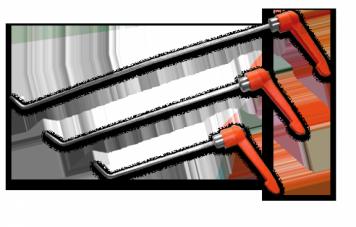 Фото Крючок с поворотной ручкой, набор 3 шт. (Ø 3 мм)
