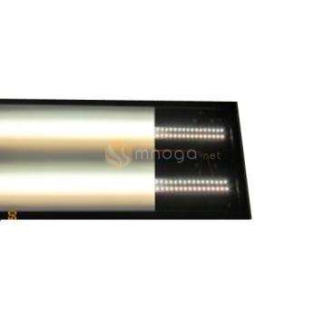 Фото Авторская лампа Евгения Киселева (плафон LED, 12V, диммер, 4 полосы, крепёж - шар)